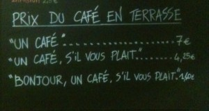 French Cafe Sign
