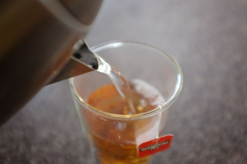 Pouring Yorkshire Tea