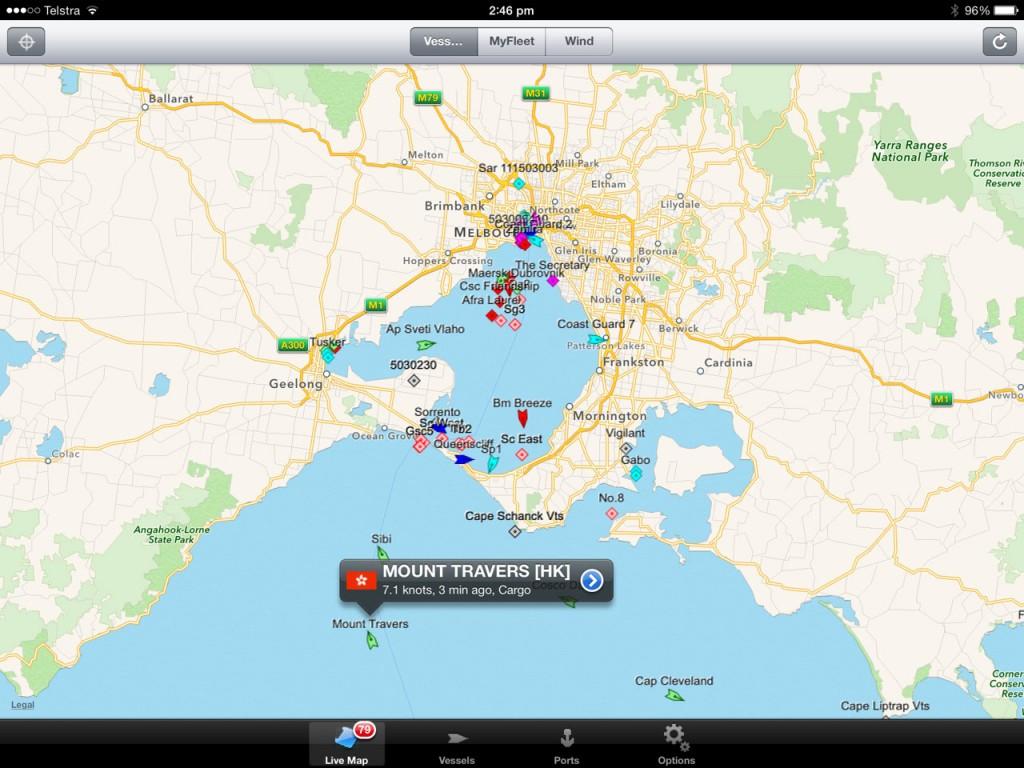 Marinetraffic App