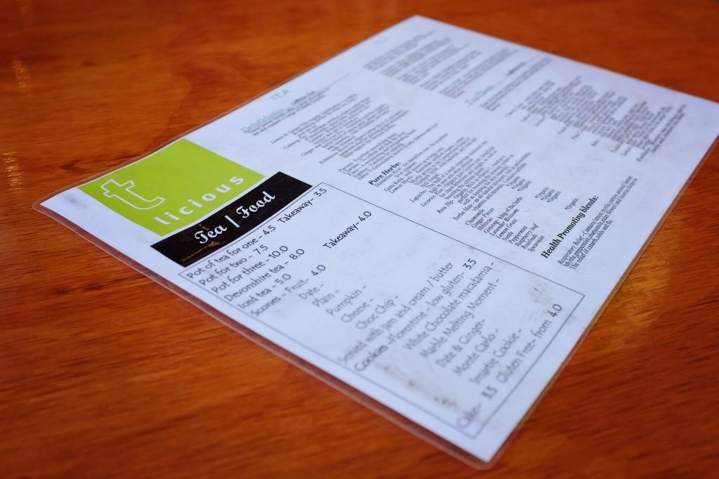 Tlicious menu
