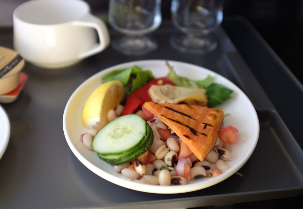 Qantas Vegan Lunch