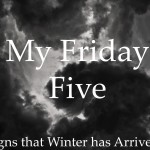 My Friday Five - Signs that Winter has Arrived!