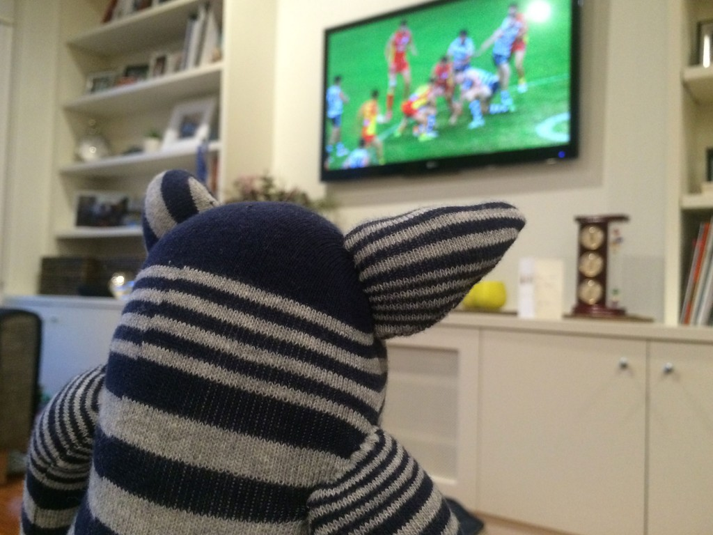 Watching footy