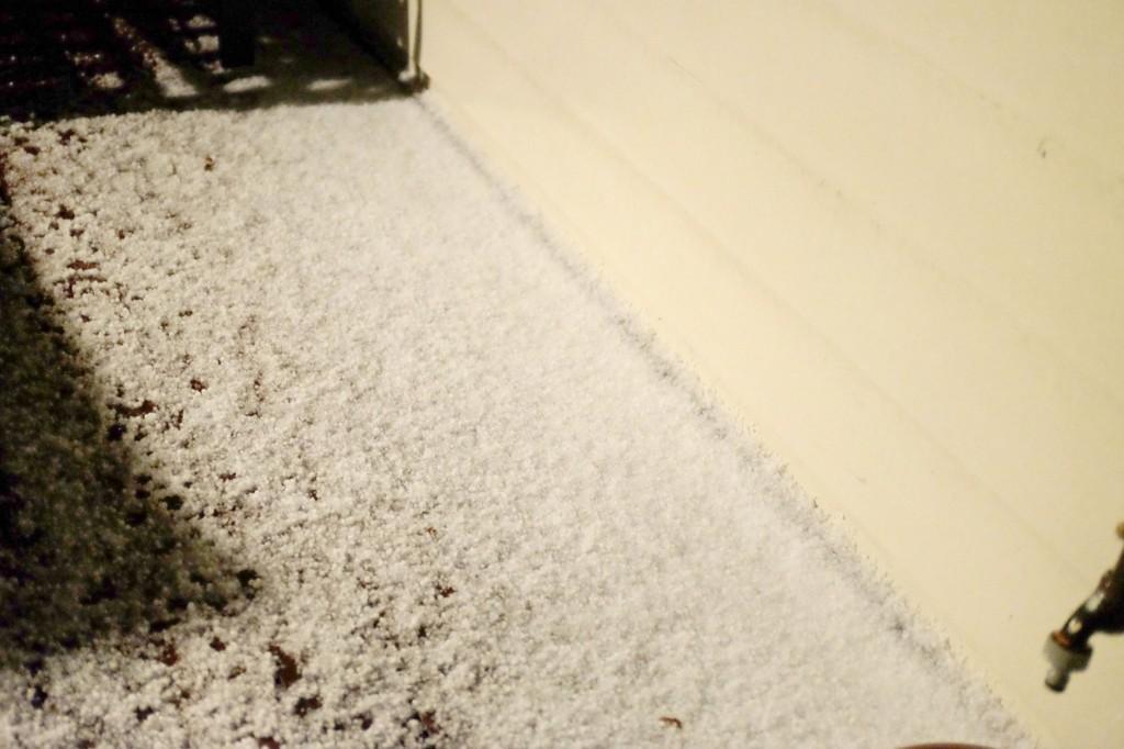 Pile of hail