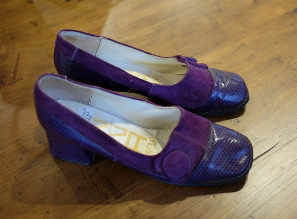 Vintage purple shoes