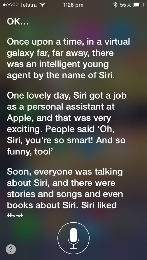 Siri-Question