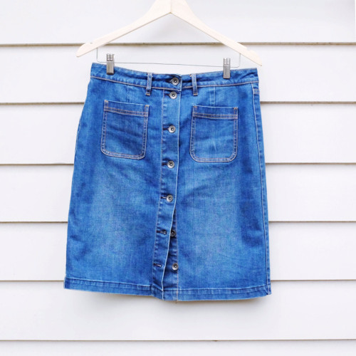 Denim-button-up-skirt