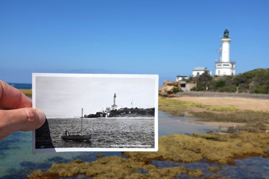 Point-lonsdale-new-and-old-postcard