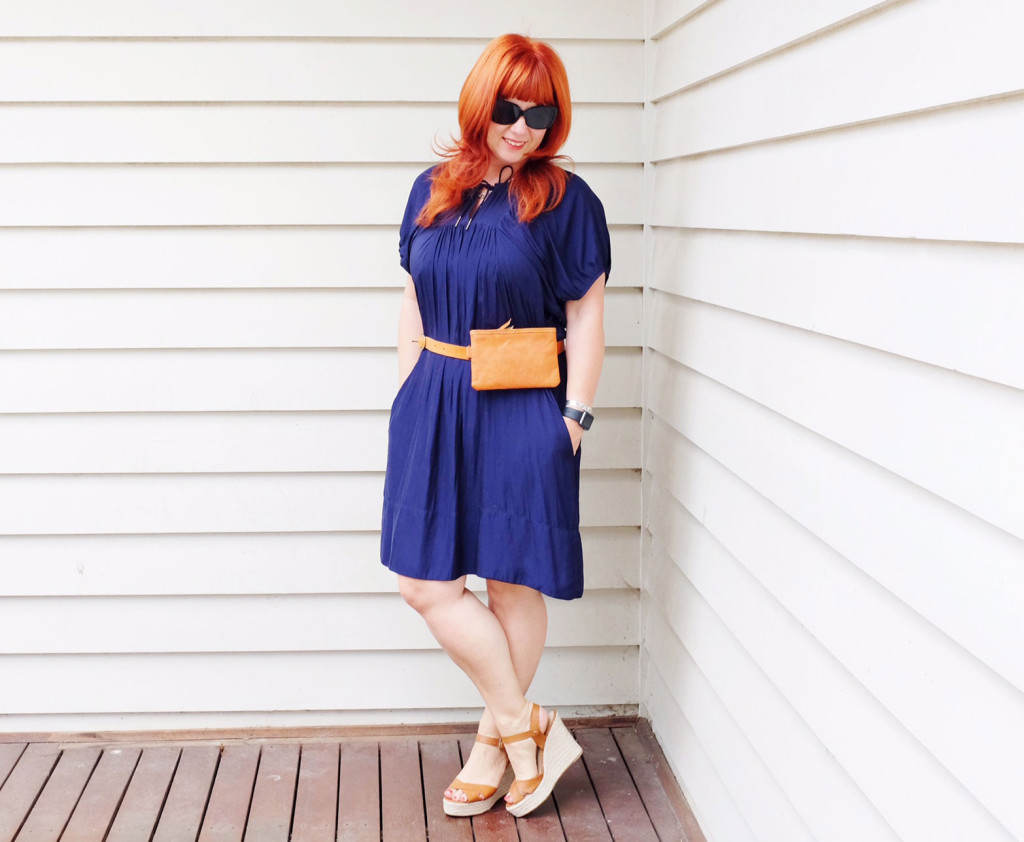 Belt-Bag-with-shift-dress