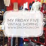 My Friday Five - Finding a Christmas Vintage Outfit